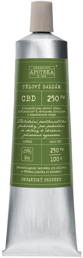 Organická kosmetika z Havlíkovy apotéky  Organická apotéka CBD tělový balzám 100ml
