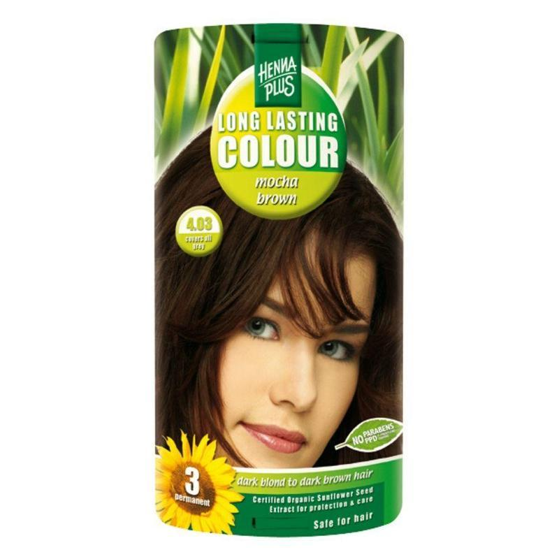 HennaPlus Přírodní barva na vlasy mocca hnědá 4.03 100ml