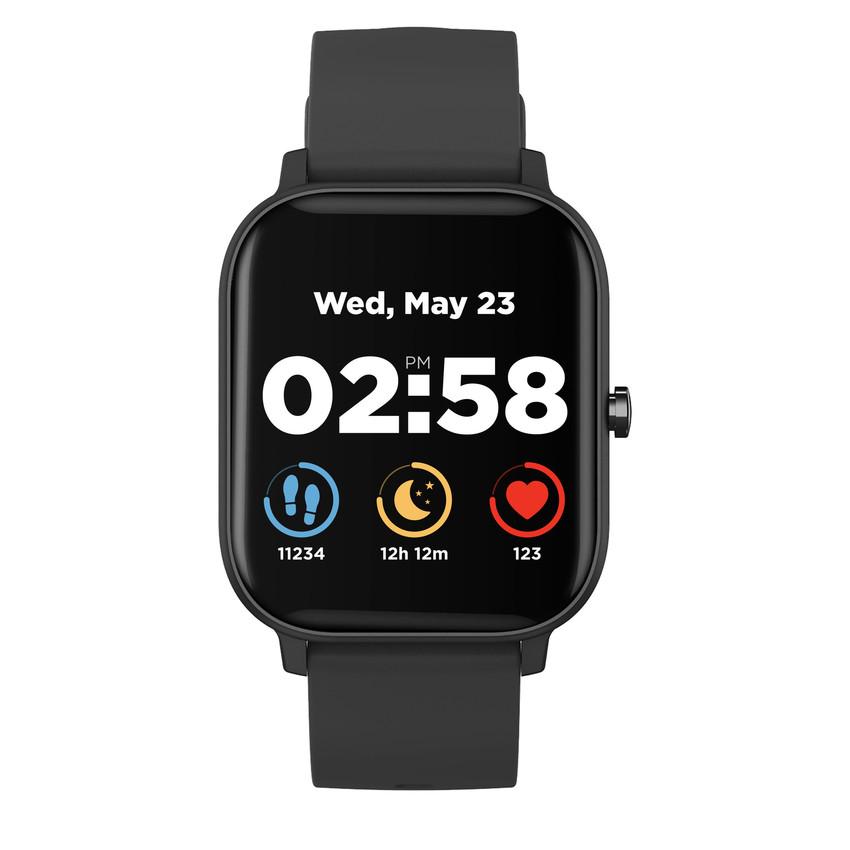 """CANYON chytré hodinky Wildberry, 1,3"""" LCD dotykový displej, IP67, režim Multi-sport, iOS/android, černá"""