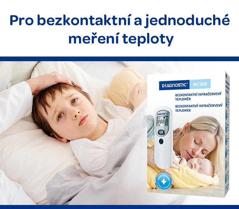 Diagnostic, bezkontaktní teploměr, vhodný i pro dětské měření
