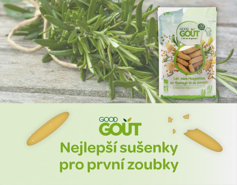 Good Gout Mini bagetky s rozmarýnem a sýrem