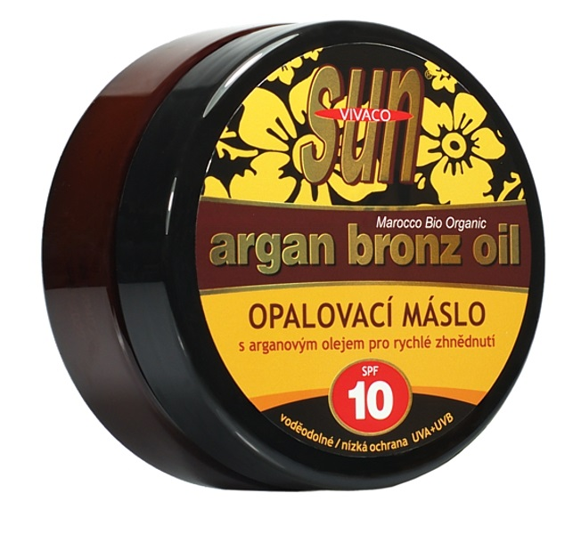 Sun Vital  Sun Vivaco SUN Bronz Opalovací máslo SPF10 s argan.olej.200ml