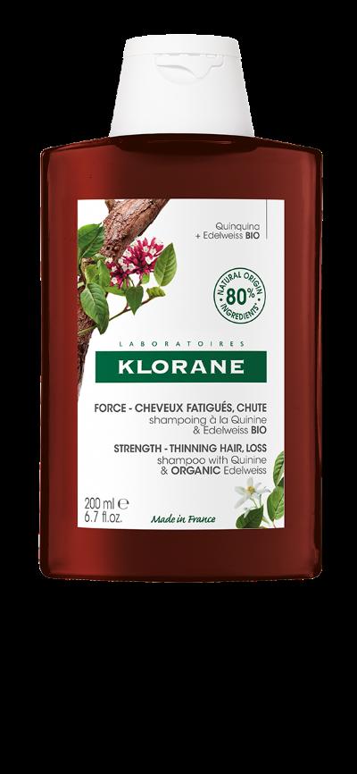 Klorane Šampon chinin a BIO protěž alpská 200ml