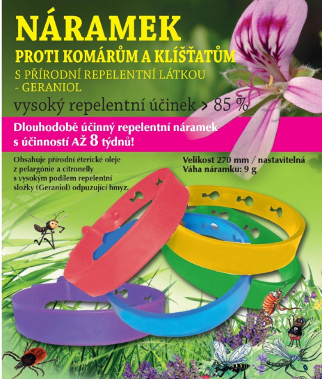 Hanna Maria Repelentní náramek proti komárům a klíšťatům Modrý 270mm