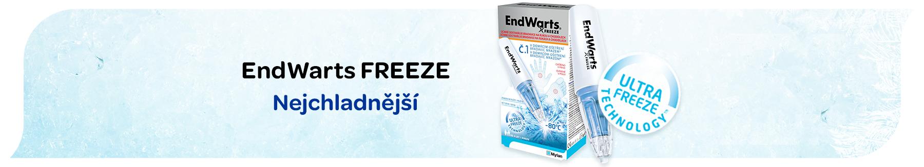 Endwarts, domácí ošetření bradavic, endwarts freeze, odstranění bradavic mrazem
