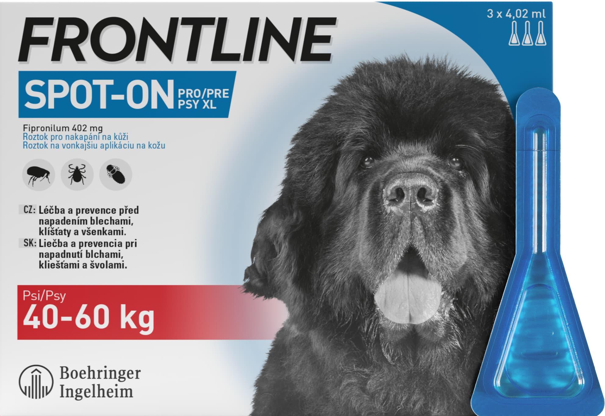 Frontline Spot On Dog XL 40-60kg, Pipeta 3x4,02ml