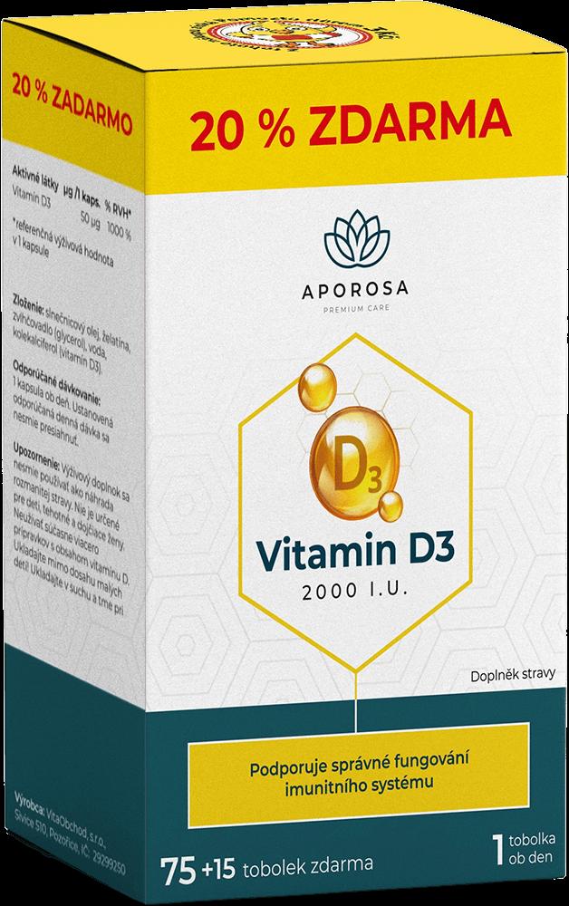 APOROSA Vitamin D3 2000I.U. 75+15 tobolek