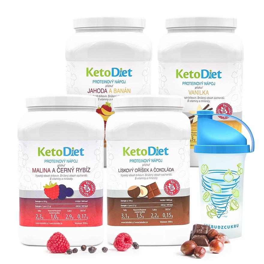 KetoDiet 4týdenní proteinové nápoje INTENSE 1. krok 140 porcí