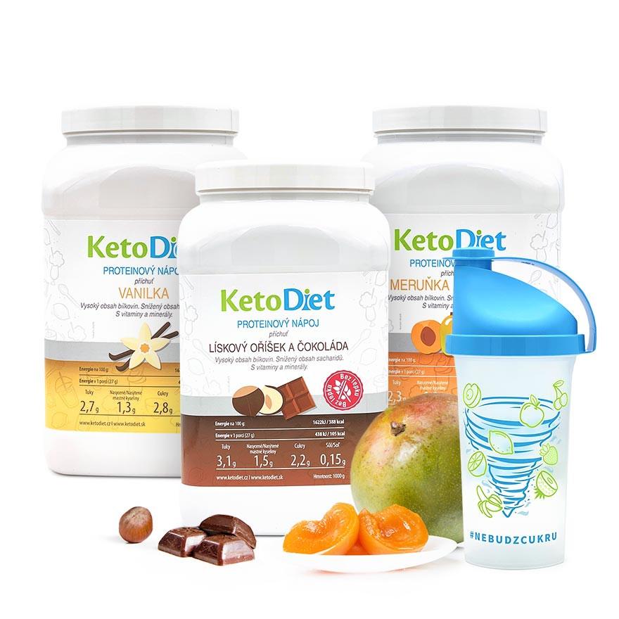 KetoDiet 3týdenní proteinové nápoje MEDIUM 1. krok 105 porcí