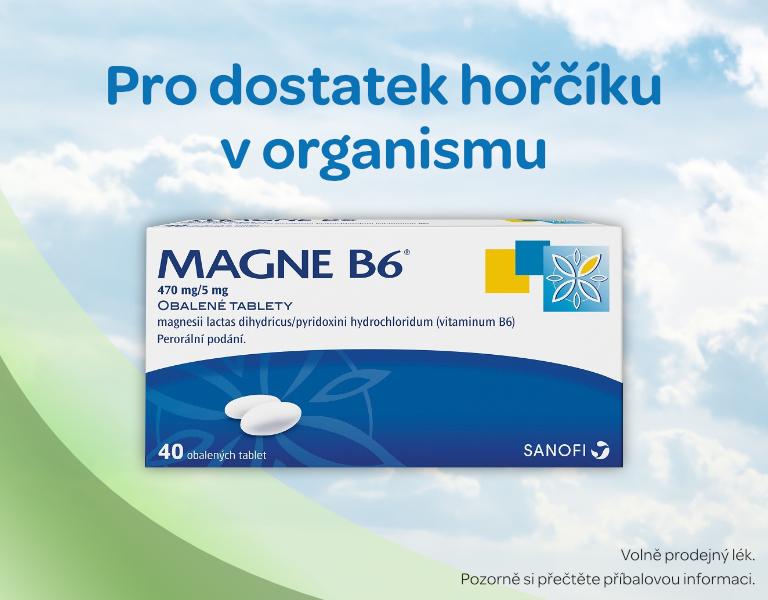 Magne B6® 470 mg/5 mg obalené tablety 40 tablet, hořčík