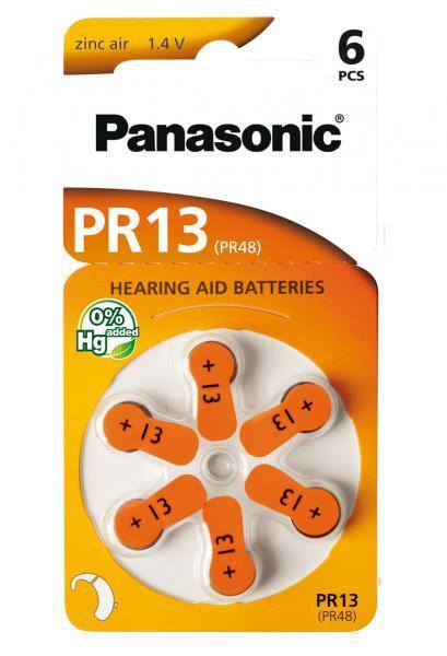 Panasonic PR-13B6 Baterie do naslouchadel 6ks