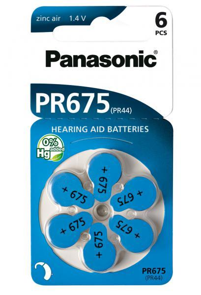 Panasonic PR-675HB6 Baterie do naslouchadel 6ks