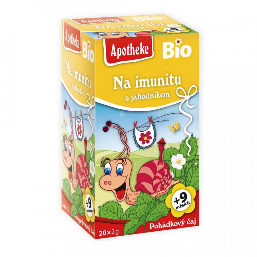 Apotheke Dětský Pohádkový čaj Imunita s jahodník 20x2g