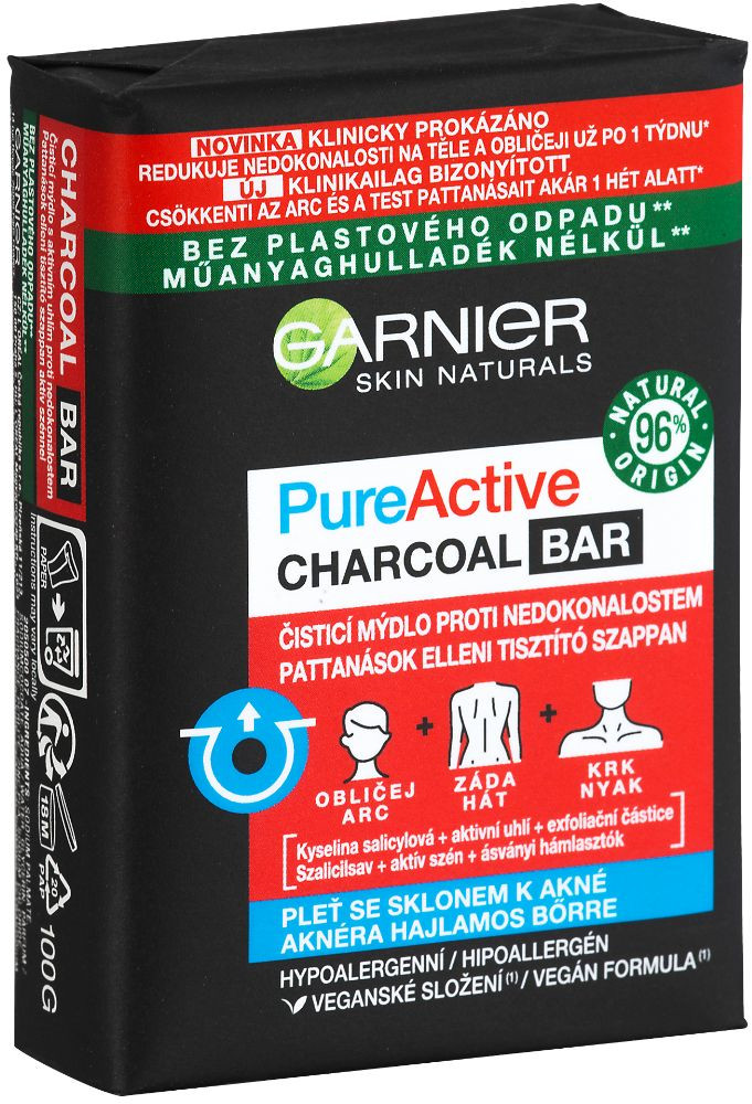 Garnier Pure Active Čisticí mýdlo proti nedokonalostem 100ml