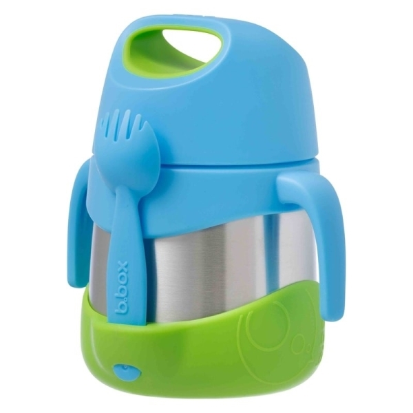 B.box Termoska na jídlo - modrá/zelená, 335ml