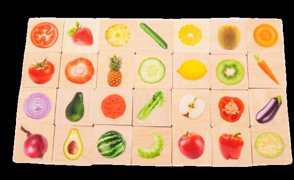 Tickit Dřevěné pexeso ovoce a zelenina