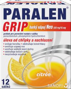 Paralen® Grip Horký Nápoj Neo 500mg/10mg sáčky 12ks