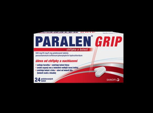 Paralen® Grip Chřipka a bolest 24 potahovaných tablet