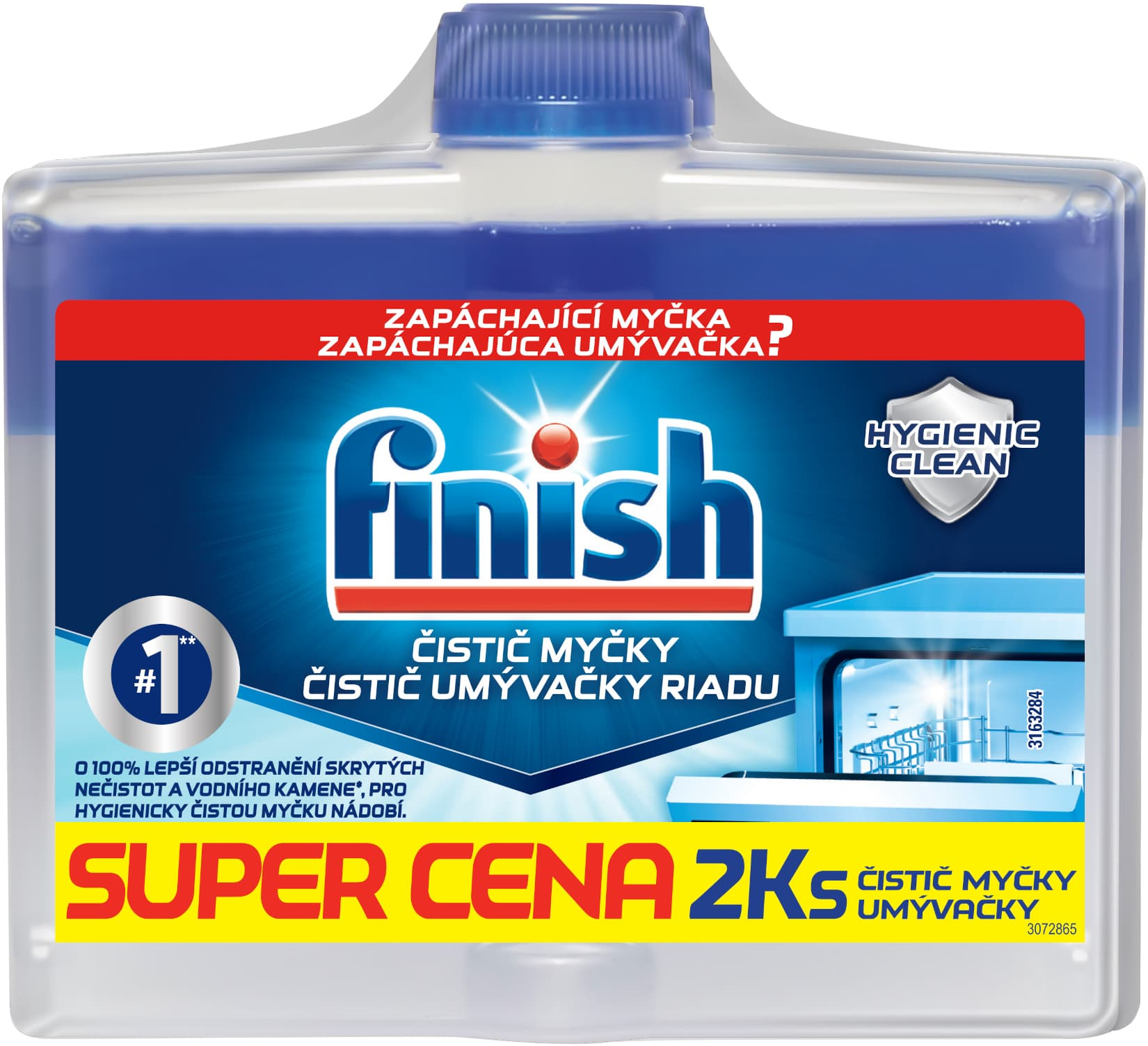 Finish Čistič myčky 2x250ml