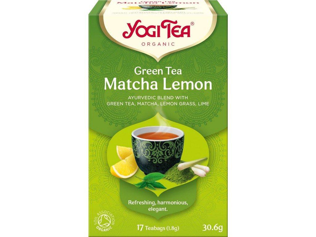 Yogi Tea Bio Zelený čaj Matcha Citrón 17x1,8g