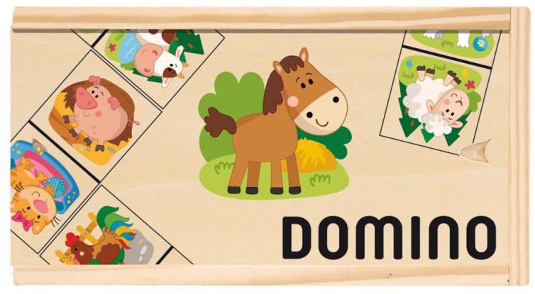 """WOODY Domino """"Domácí zvířata"""""""
