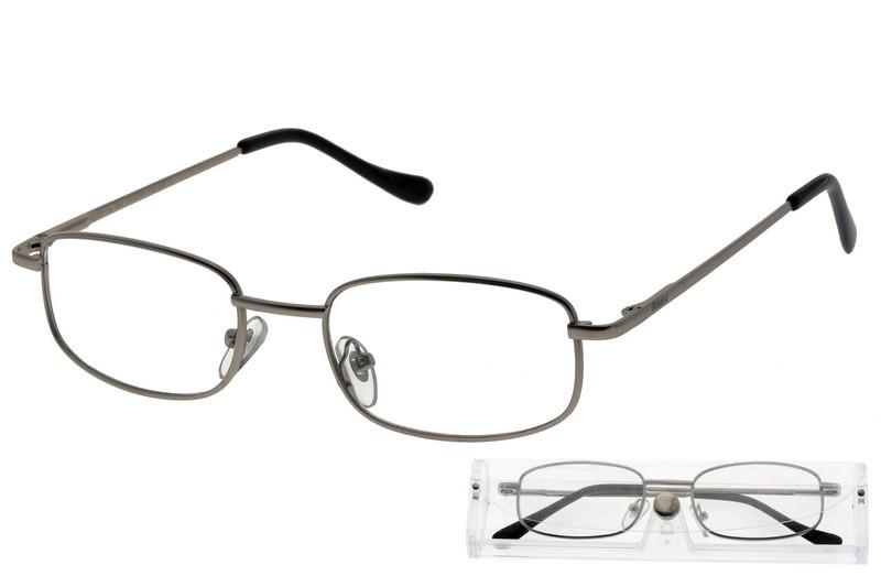 American Way Čtecí brýle šedé v etui +2.50