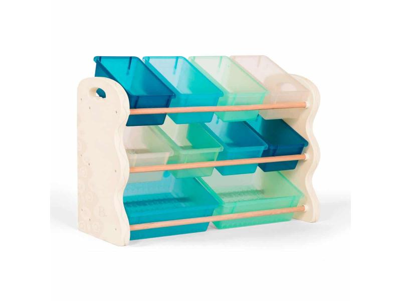 B-Toys Organizer na hracky s ukladacimi boxy