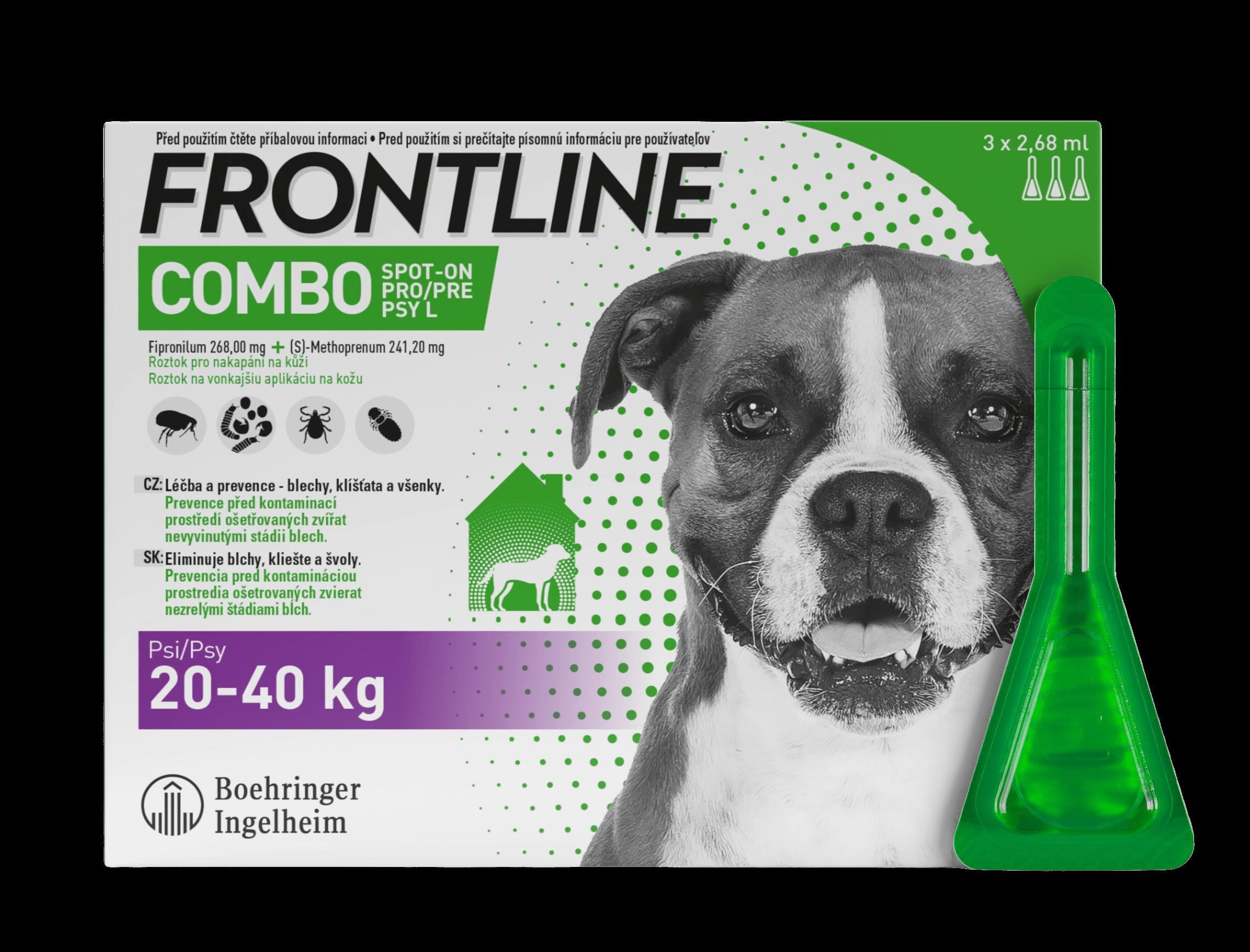 Frontline Combo Spot-On pro psy L (20-40 kg) 3ks