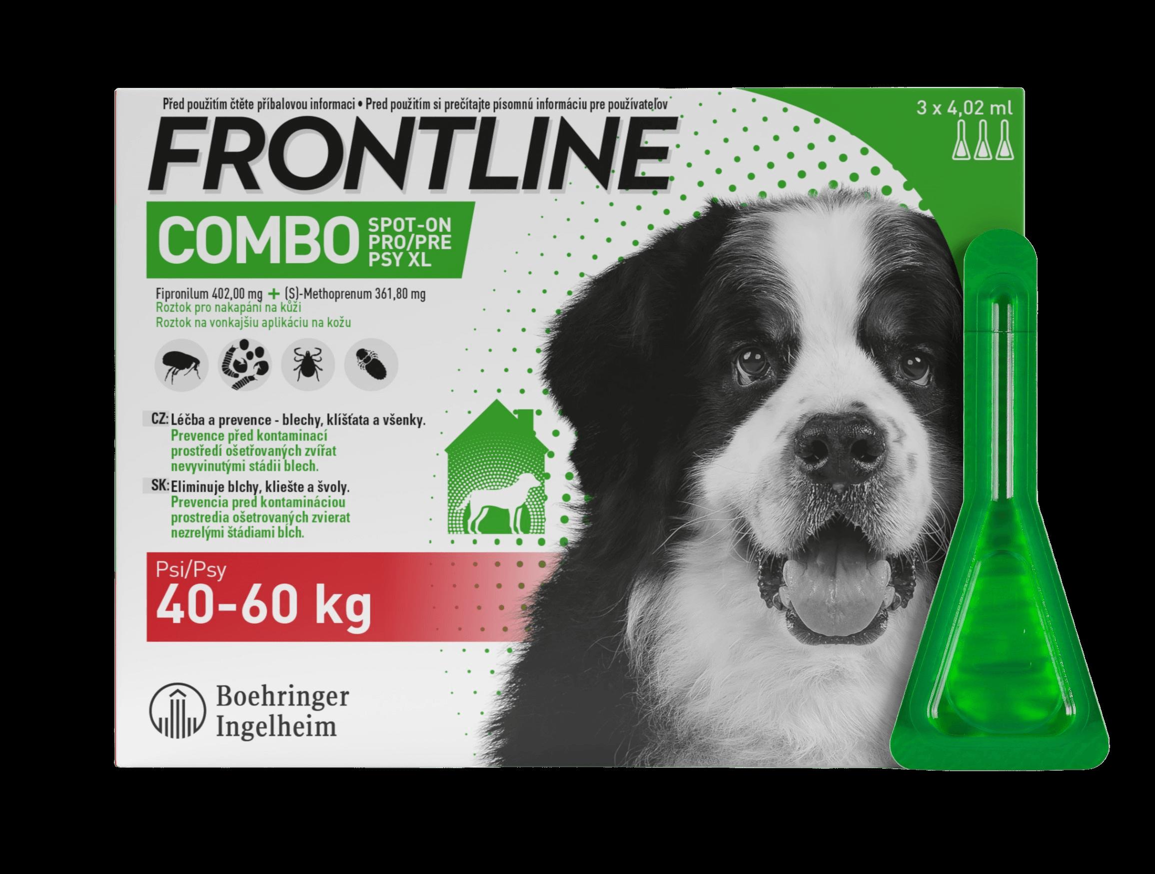 Frontline Combo Spot-On pro psy XL (40-60 kg) 3ks