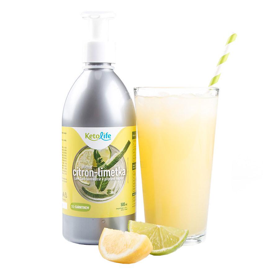 KetoDiet Low Carb sirup citron-limetka 500ml