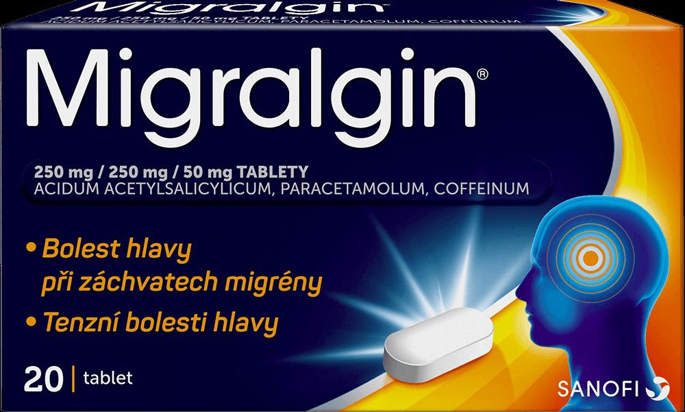 Migralgin® 250/250/50 mg 20 tablet – při akutní bolesti hlavy