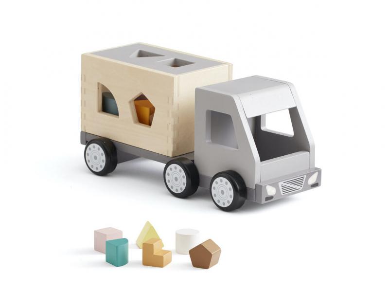 Kids Concept Náklaďák s kostkami dřevěný Aiden