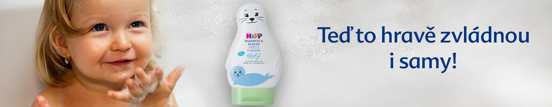 Hipp babysanft, šampon vlasy a tělo