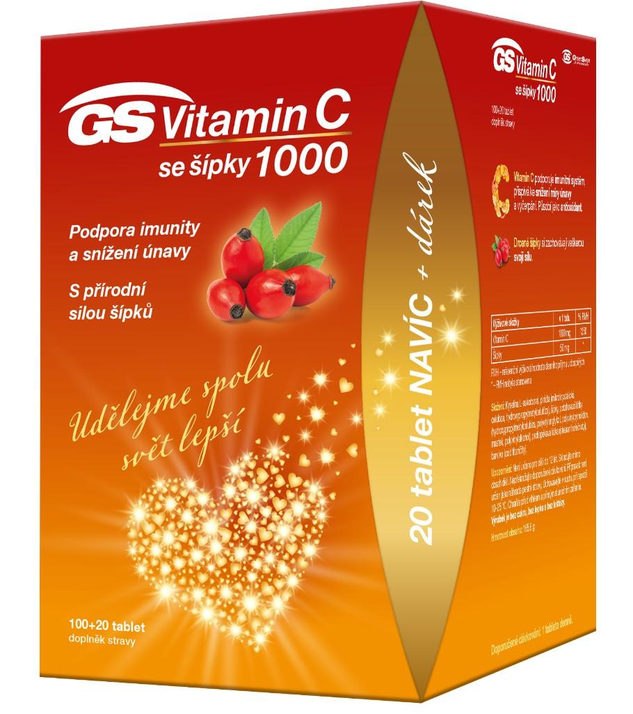 GS Vitamin C1000 + šípky 100+20 tablet