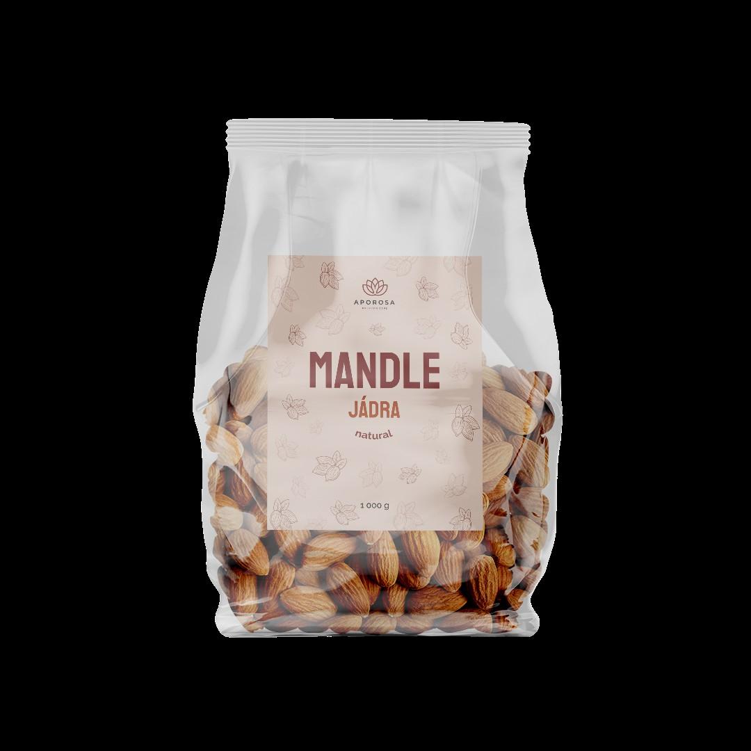 Aporosa Mandle jádra natural 1000g