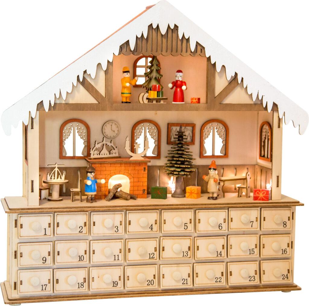 Small Foot Dřevěný adventní kalendář kouzelný vánoční dům