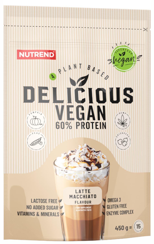 E-shop Nutrend Delicious Vegan 60% Protein latte macchiato 450g