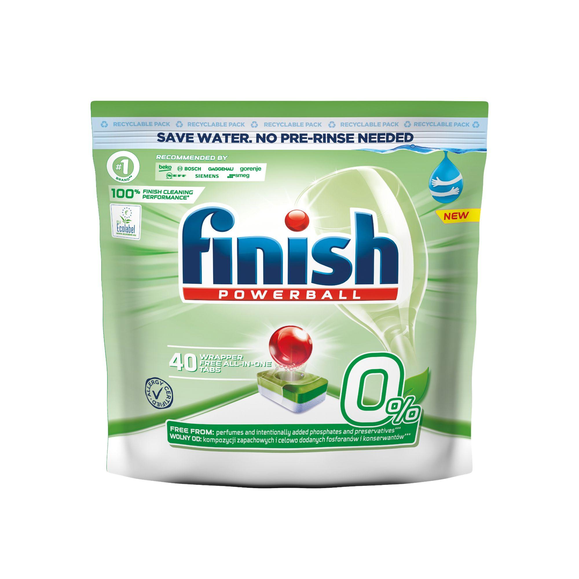 Finish 0% Powerball Green Eco tablety do myčky 40ks