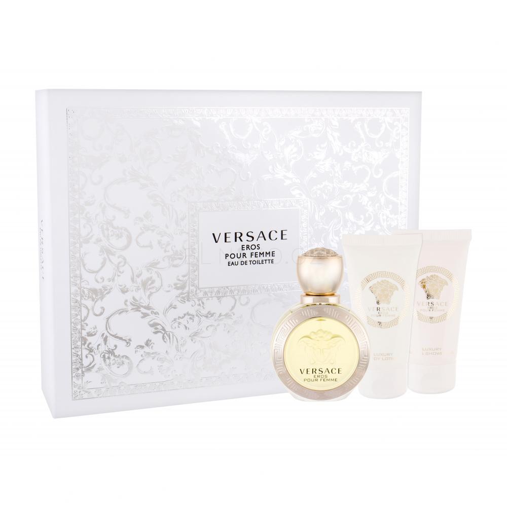Versace Eros Pour Femme Set Eau de Toilette 50ml + Bath&Shower Gel 50ml + Body Lotion 50ml
