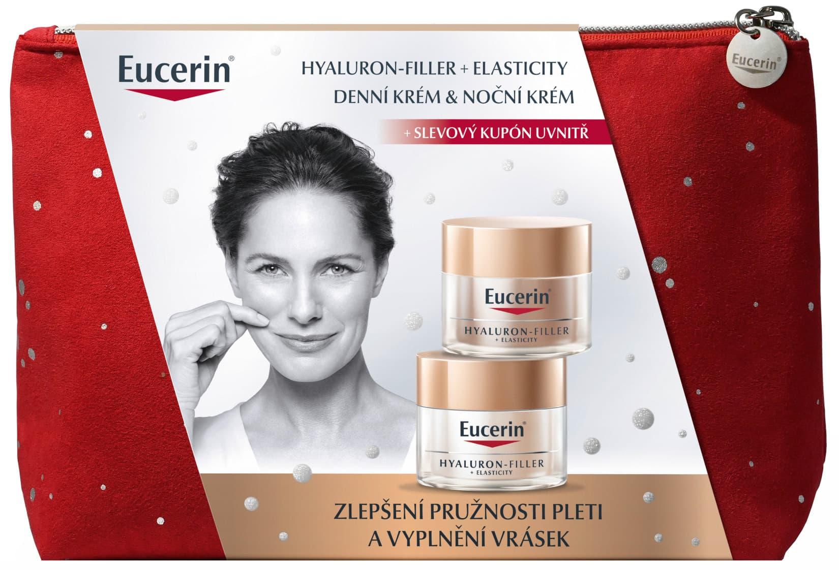 Eucerin Hyaluron-Filler + Elasticity vánoční kazeta 2021