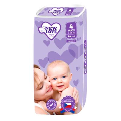 New Love Detské jednorázové plienky Premium comfort 4 MAXI 7-18 kg 44ks