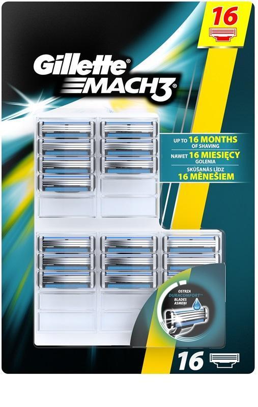 Gillette Mach3 náhradní hlavice 16ks