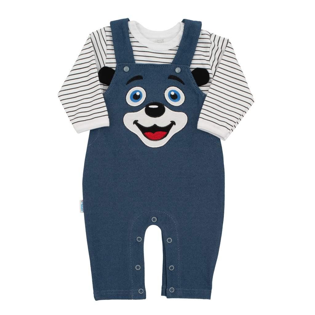 New Baby 2dielna dojčenská súprava For Babies modrá veľ.74(6-9m)