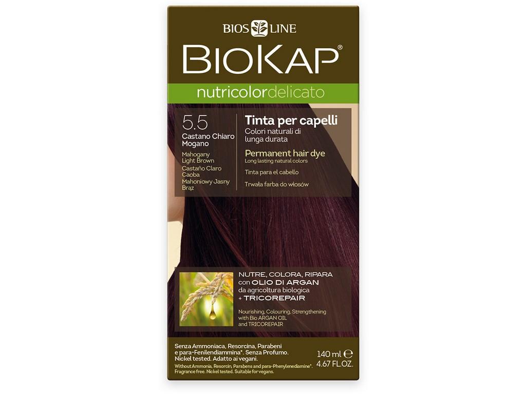 Biosline Farba na vlasy - 5.50 Svetlo-hnedý mahagón 140ml