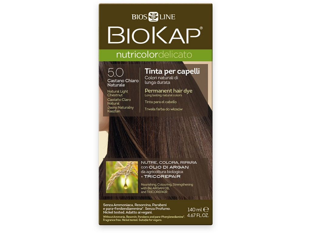 Biosline Farba na vlasy - 5.0 Prirodzený svetlý gaštan 140ml