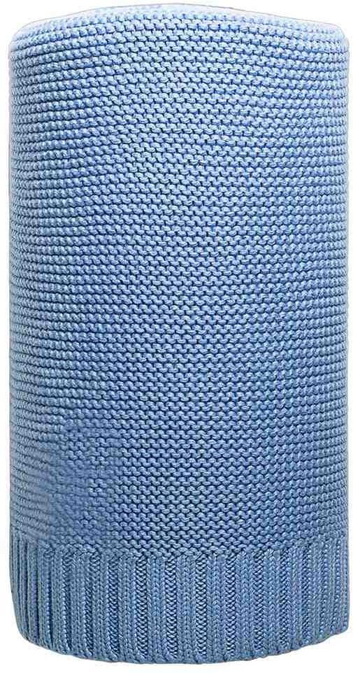 New Baby Bambusová pletená deka, modrá 100x80cm