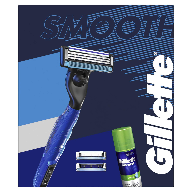 Gillette Mach3 Start Holiaci Strojček + 2 Holiace Hlavice + Gél Na Holenie 75 ml Darčeková Súprava