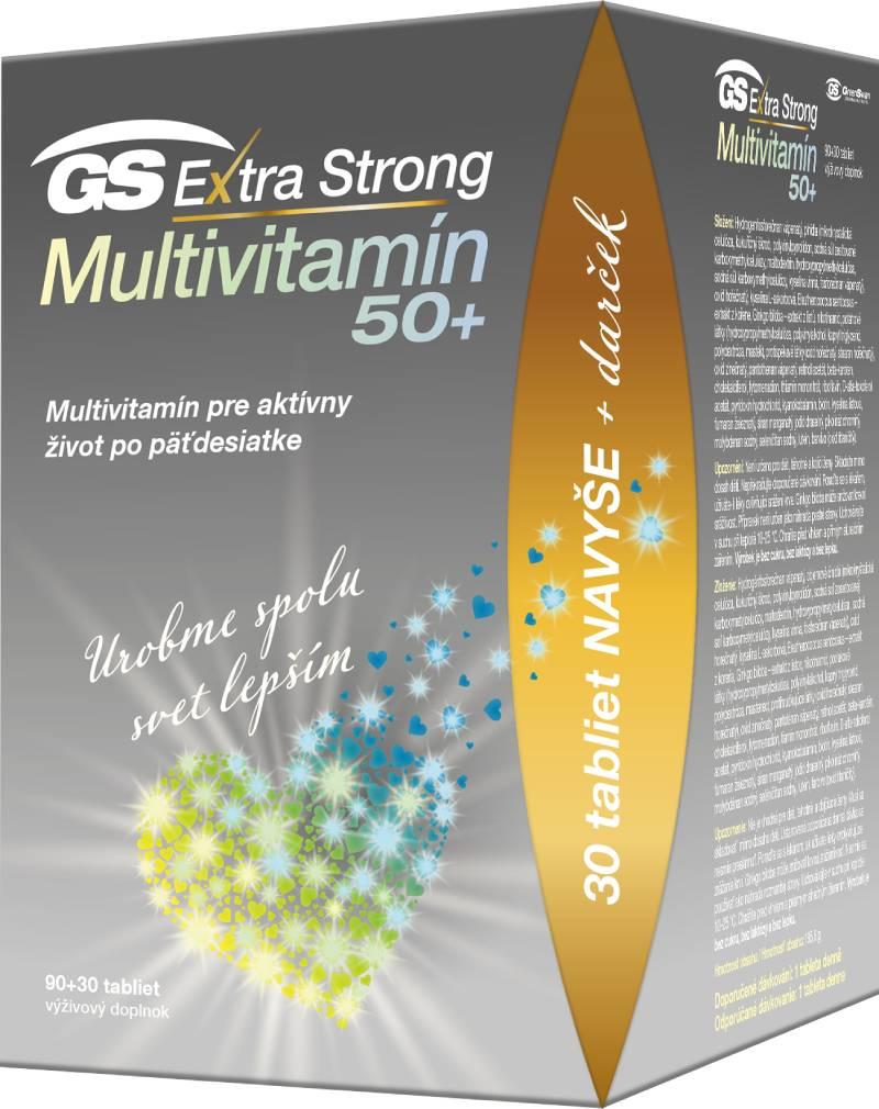 Green-Swan GS Extra Strong Multivitamin 50+ darček 2021 90+30 tablet