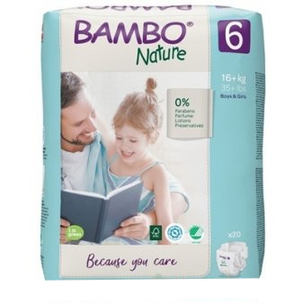 Bambo 6 detské plienky 20ks