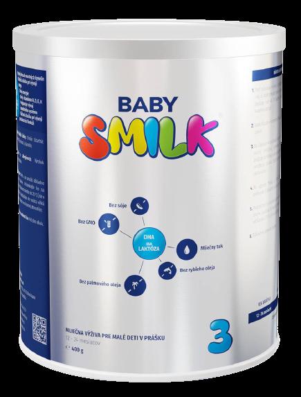 Babysmilk 3 Mliečna výživa pre malé deti v prášku 12-24 mesiacov 400g